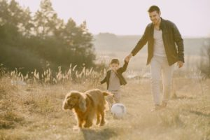 Blog - photo-of-man-holding-his-child-while-walking-on-grass-field-4148847